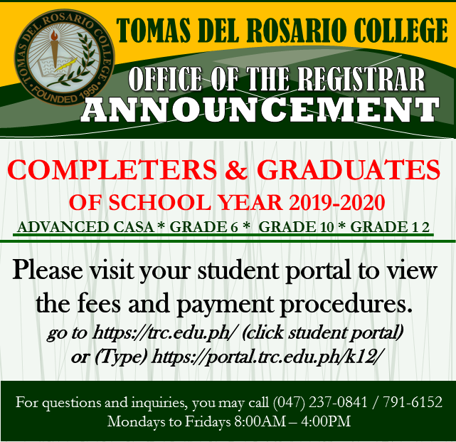 COMPLETER AND GRADUATES OF SCHOOL YEAR 2019-2020