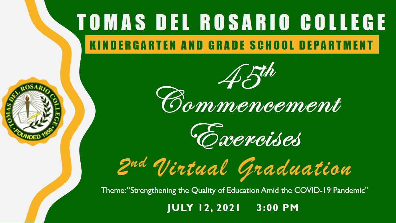 GRADE SCHOOL 2ND VIRTUAL GRADUATION